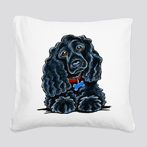 Cocker Spaniel Fitz Square Canvas Pillow