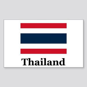 Thai Thailand Rectangle Sticker