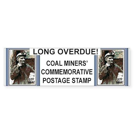coal miner stamp BUMPER STICKER