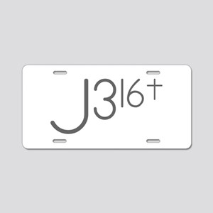 J316Typo Aluminum License Plate