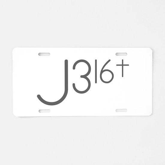 J316Typo.png Aluminum License Plate