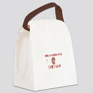 Out Damned Spot Canvas Lunch Bag