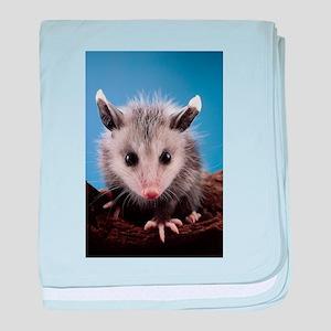 Cute Opossum baby blanket