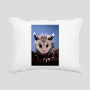 Cute Opossum Rectangular Canvas Pillow