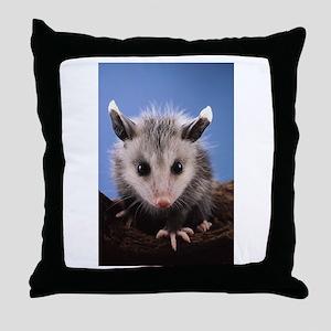 Cute Opossum Throw Pillow