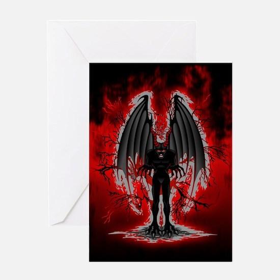 Evil Demon Spirit Greeting Cards