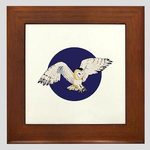 NIGHT BARN OWL Framed Tile
