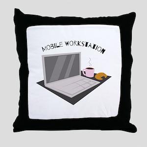 Mobile Workstation Throw Pillow