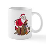 Christmas Art Santa and Toys Mug