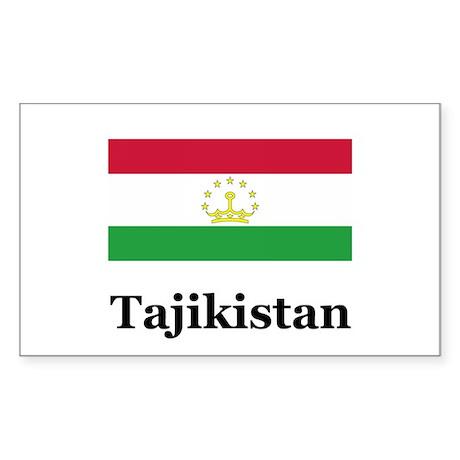 Tajikistan Rectangle Sticker