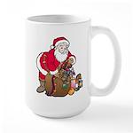 Christmas Art Santa and Toys Large Mug