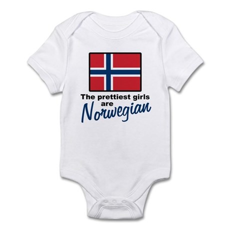 The Prettiest Girls are Norwegian Infant Bodysuit
