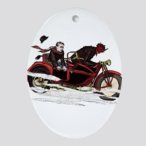 Krampus The Biker Ornament (Oval)