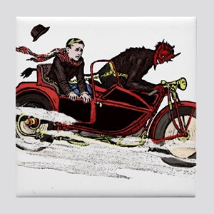 Krampus The Biker Tile Coaster