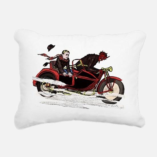 Krampus The Biker Rectangular Canvas Pillow
