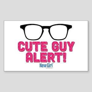 New Girl Alert Sticker (Rectangle)