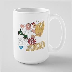 Family Guy Peter vs. The Giant Chicken Large Mug