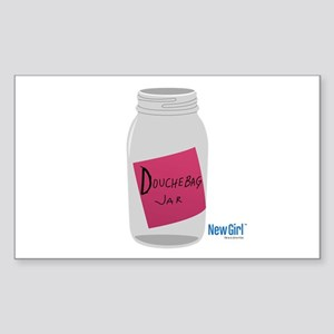 New Girl Jar Sticker (Rectangle)