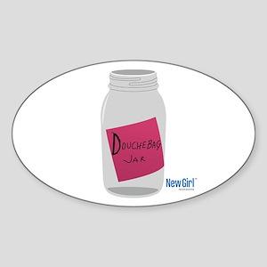 New Girl Jar Sticker (Oval)