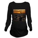 Maui Sunset Long Sleeve Maternity T-Shirt