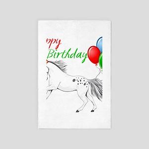 Happy New year Appaloosa Horse 4' x 6' Rug