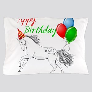 Happy New year Appaloosa Horse Pillow Case