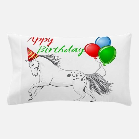 Happy New year Appaloosa Horse Pillow Case