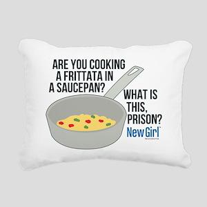 New Girl Frittata Rectangular Canvas Pillow