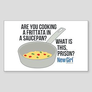 New Girl Frittata Sticker (Rectangle)