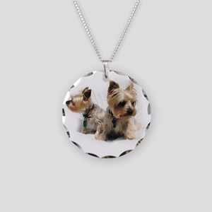 Silky Terriers Necklace Circle Charm