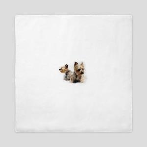 Silky Terriers Queen Duvet