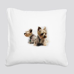 Silky Terriers Square Canvas Pillow