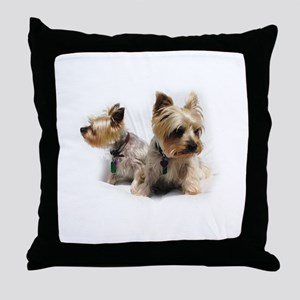 Silky Terriers Throw Pillow