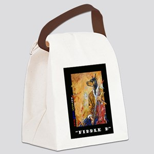 Doberman Fiddle D Canvas Lunch Bag