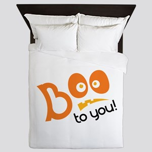 Boo To You Queen Duvet