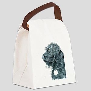 Black Labradoodle 7 Canvas Lunch Bag
