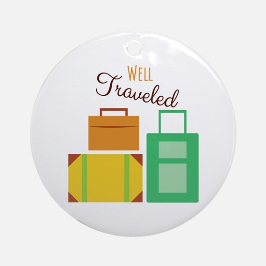 Well Traveled Ornament (Round)