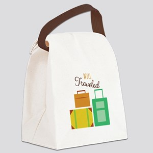 Well Traveled Canvas Lunch Bag