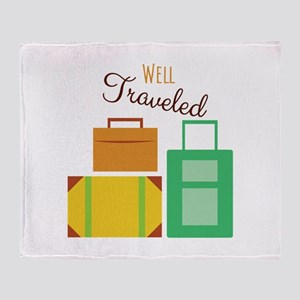 Well Traveled Throw Blanket