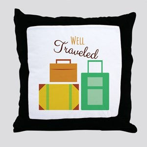 Well Traveled Throw Pillow