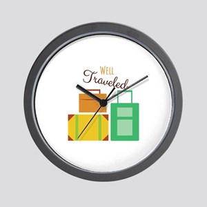 Well Traveled Wall Clock