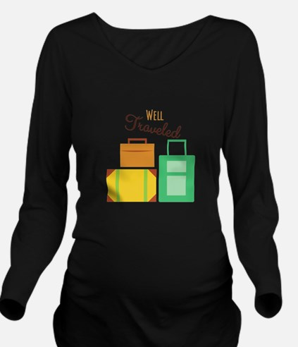 Well Traveled Long Sleeve Maternity T-Shirt