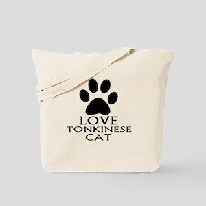 Love Tonkinese Cat Designs Tote Bag
