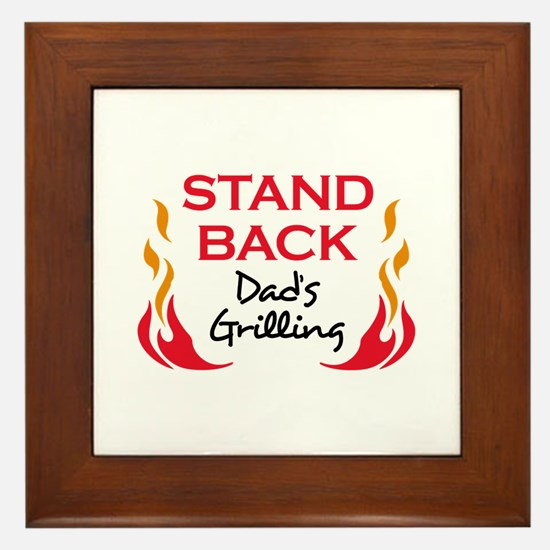 DADS GRILLING Framed Tile