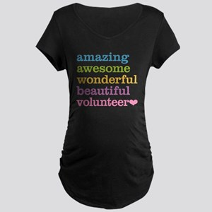Awesome Volunteer Maternity Dark T-Shirt