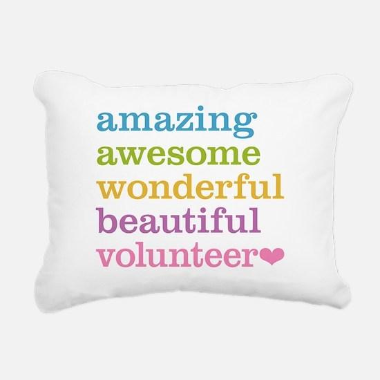 Awesome Volunteer Rectangular Canvas Pillow