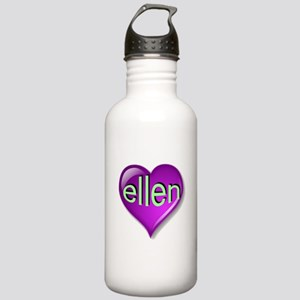 Love ellen Purple Hear Stainless Water Bottle 1.0L