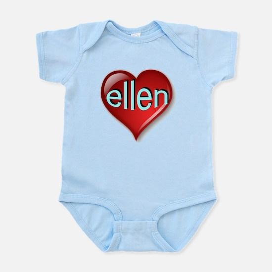 Classic ellen Heart Infant Bodysuit
