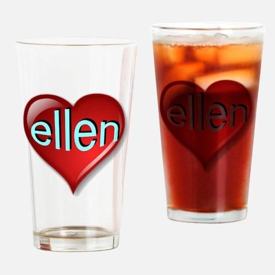 Classic ellen Heart Drinking Glass