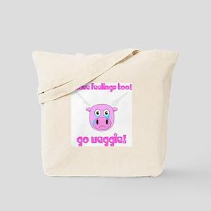Go Veggie Pig Tote Bag